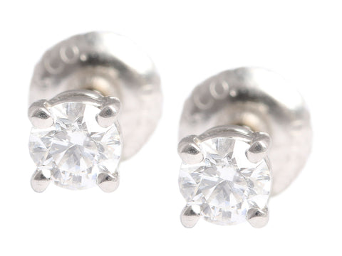 Tiffany & Co. 0.18 Carat Diamond Solitaire Earrings