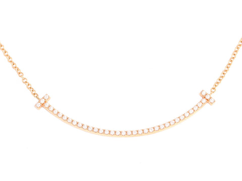 Tiffany & Co. Mini Diamond Smile Necklace