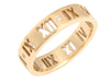 Tiffany & Co. 18K Yellow Gold Diamond Pierced Altas Ring