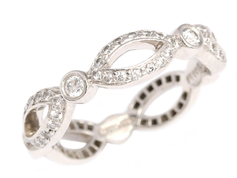 Tiffany & Co. Platinum and Diamond Swing Eternity Band