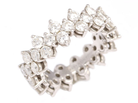 Tiffany & Co. Diamond Platinum Aria Eternity Ring