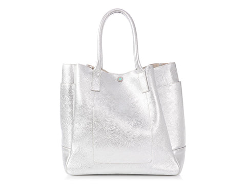 Tiffany & Co. Silver Riley Tote