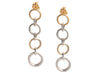 Tiffany & Co. Two-Tone Sterling Silver and 18K Gold Circle Drop Earrings
