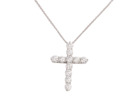 Tiffany & Co. 1.7 CTW Diamond Platinum Cross