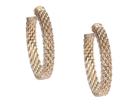 Tiffany & Co. Sterling Silver Somerset Hoop Earrings