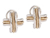 Tiffany & Co. 18K Yellow Gold and Sterling Silver X Earrings