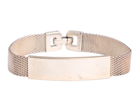 Tiffany & Co. Vintage Sterling Silver Somerset Mesh ID Bracelet
