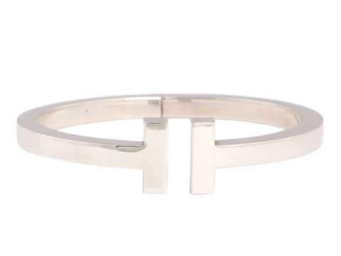 Tiffany & Co. Medium Sterling Silver T Square Bracelet