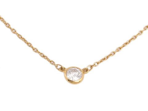 Tiffany & Co. 18K Yellow Gold Diamonds by the Yard Elsa Peretti Necklace