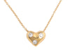 Tiffany & Co. 18K Yellow Gold and Diamond Etoile Heart Pendant Necklace