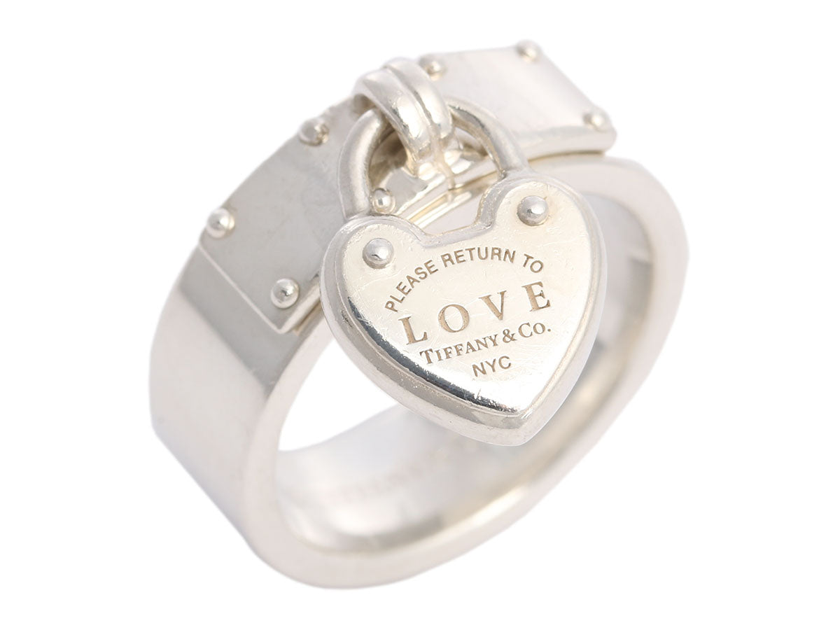 Tiffany & Co. Sterling Silver Love Lock Heart Ring