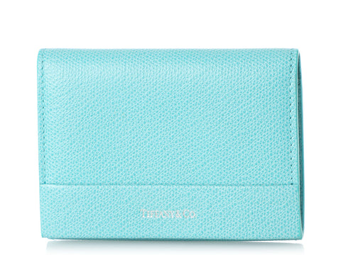 Tiffany & Co. Blue Compact Wallet