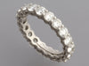 Tiffany & Co. Platinum Diamond Embrace Eternity Band Ring 2.86