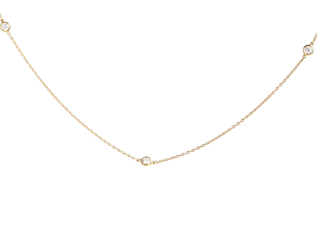 Tiffany & Co. 18K Yellow Gold Elsa Peretti Diamonds by the Yard Necklace