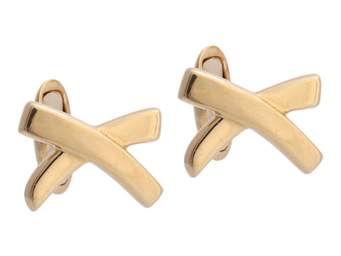 Tiffany & Co. 18K Yellow Gold Paloma Picasso X Cufflinks