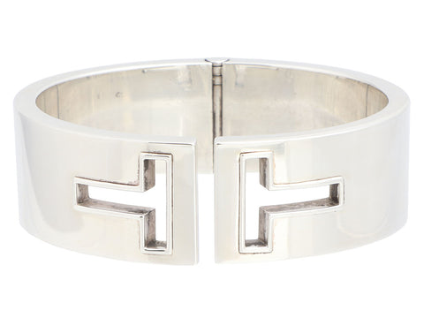 Tiffany & Co. Wide Sterling Silver Cut-Out T Bangle