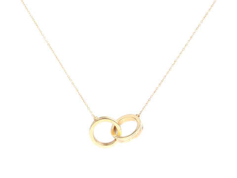 Tiffany & Co. 18K Yellow Gold 1837 Interlocking Circles Necklace