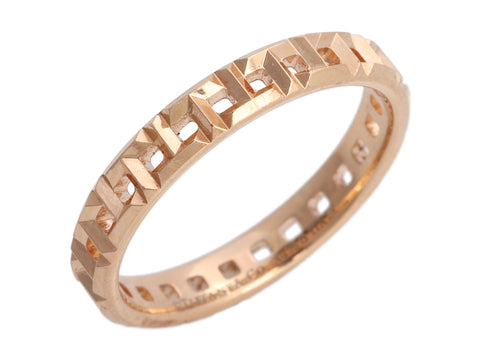 Tiffany & Co. 18K Rose Gold T True Narrow Band Ring