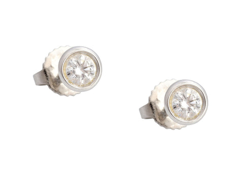 Tiffany & Co. Platinum Diamonds by the Yard Pierced Earrings 0.28 Carat