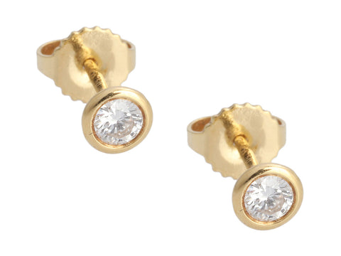 Tiffany & Co. 18K Yellow Gold 0.28-Carat Diamonds by the Yard Pierced Earrings