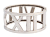 Tiffany & Co. Wide 18K White Gold Open Atlas Bangle