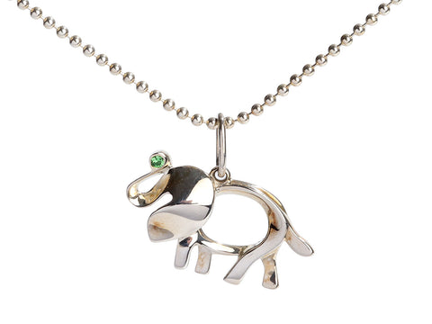 Tiffany & Co. Sterling Silver Save the Elephant Pendant Necklace