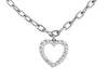 Tiffany & Co. Vintage Platinum Diamond Heart Charm Bracelet
