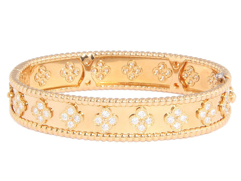 Van Cleef & Arpels Pavé Diamond Perlée Bangle