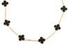 Van Cleef & Arpels Ten Motif Onyx Vintage Alhambra Necklace