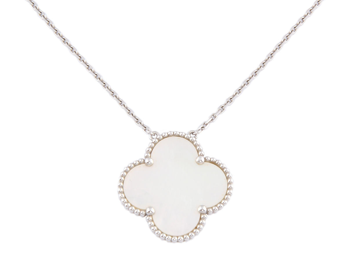 Van Cleef & Arpels Mother of Pearl Magic Alhambra Necklace