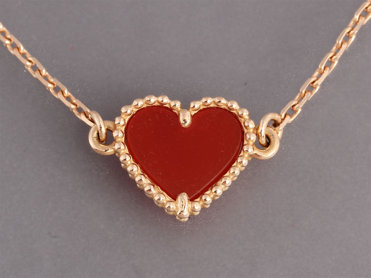 van necklace pendant jewelry arpels sweet enlarged cleef products and alhambra necklaces