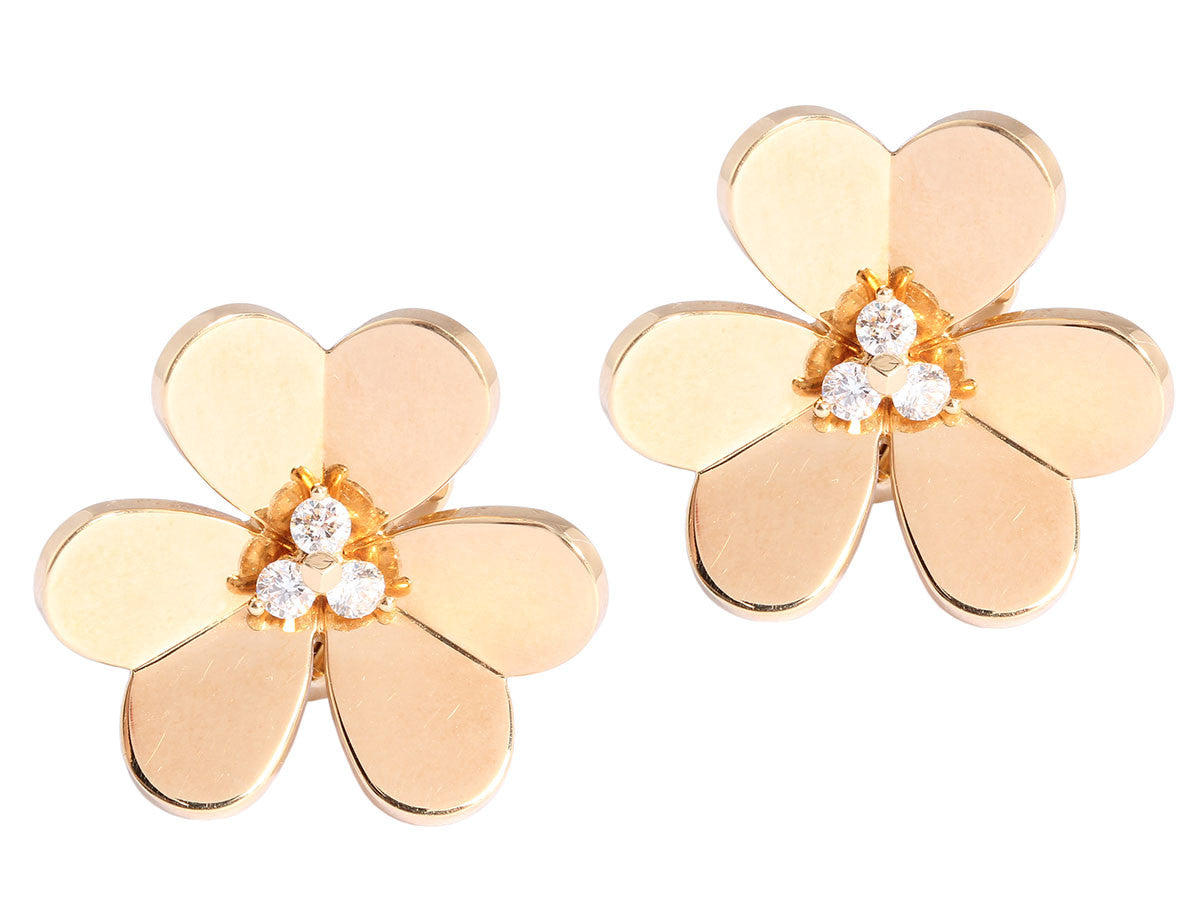 Van Cleef & Arpels Large Diamond Frivole Ear Clips