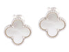 Van Cleef & Arpels Vintage Mother of Pearl Ear Alhambra Clips