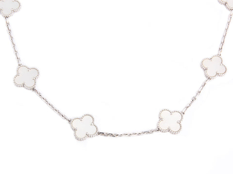 Van Cleef & Arpels Mother of Pearl Vintage Alhambra Necklace