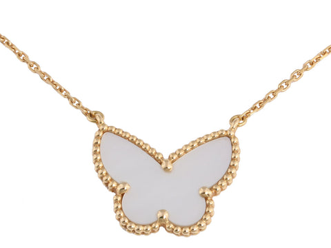 Van Cleef & Arpels Lucky Alhambra Butterfly Pendant