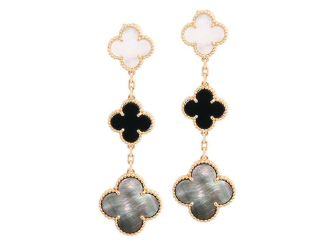 Van Cleef & Arpels Magic Alhambra Three Motif Ear Clips