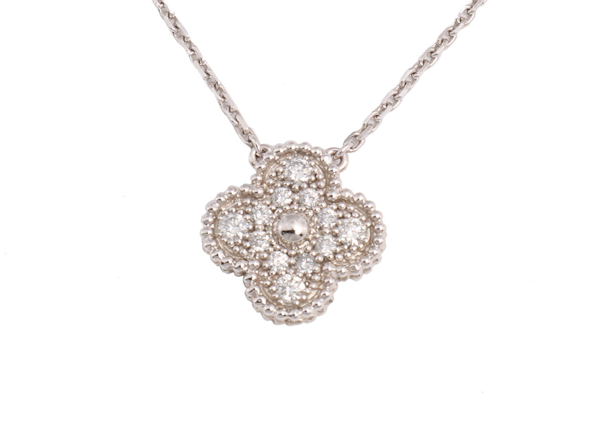 Van cleef arpels diamond vintage alhambra necklace aloadofball Choice Image