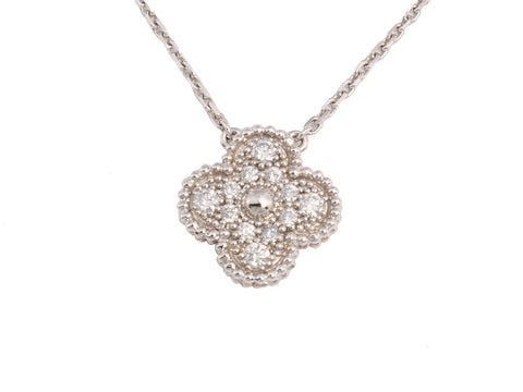 Van Cleef & Arpels Vintage Diamond Alhambra Necklace