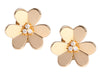 Van Cleef & Arpels Large Yellow Gold and Diamond Frivole Earrings