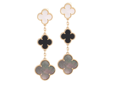 Van Cleef & Arpels Vintage Magic Alhambra Three-Motif Earrings