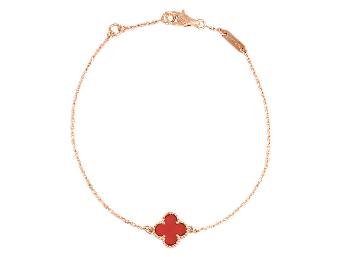 alhambra product on rose van sweet gold chain arpels heart pendant cleef