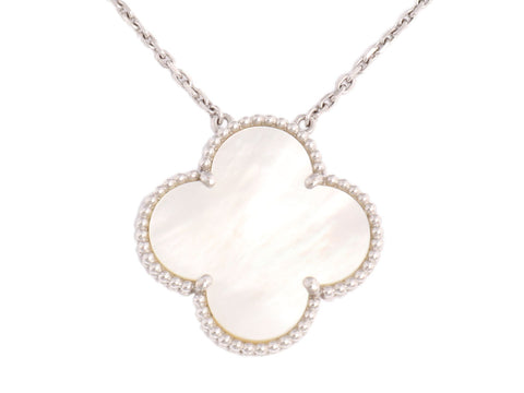 Van Cleef & Arpels Vintage Alhambra Magic Mother of Pearl Necklace