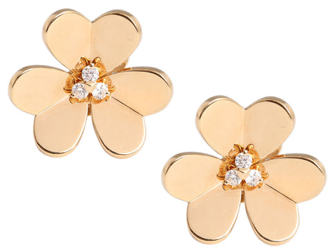 Van Cleef & Arpels Large Diamond Frivole Earrings