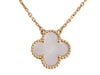 Van Cleef & Arpels 18K Yellow Gold Mother of Pearl Vintage Alhambra Pendant Necklace