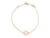 Van Cleef & Arpels 18K Yellow Gold Mother of Pearl Sweet Alhambra Bracelet