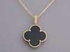 Van Cleef & Arpels Long 18K Yellow Gold Onyx Magic Alhambra Pendant Necklace