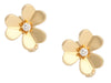 Van Cleef & Arpels Small 18K Yellow Gold Diamond Frivole Pierced Earrings