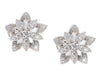 Van Cleef & Arpels Mini 18K White Gold Lotus Openwork Pierced Earrings