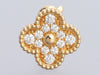 Van Cleef & Arpels 18K Yellow Gold Diamond Vintage Alhambra Pierced Ear Clips