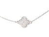 Van Cleef & Arpels 18K White Gold Sweet Alhambra Diamond Bracelet